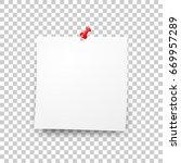 post blank sticky note paper... | Shutterstock .eps vector #669957289