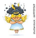 cartoon angry furious guardian...   Shutterstock . vector #669959569