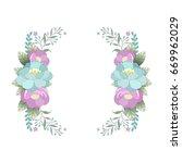 beautiful festive floral... | Shutterstock .eps vector #669962029