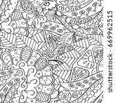 tracery seamless pattern.... | Shutterstock .eps vector #669962515