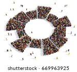 large and diverse group of... | Shutterstock . vector #669963925