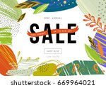sale banner template design.... | Shutterstock .eps vector #669964021