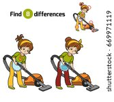 find differences  education... | Shutterstock .eps vector #669971119