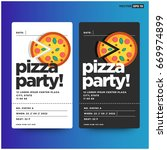 pizza party invitation template ... | Shutterstock .eps vector #669974899