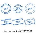 pet stamps | Shutterstock .eps vector #669976507