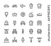 transportation icons set in... | Shutterstock . vector #669982891
