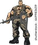 vector illustration armed with... | Shutterstock .eps vector #669983659