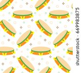 seamless pattern with...   Shutterstock . vector #669983875