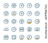 meter  icons set in thin line... | Shutterstock . vector #669986761