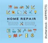 home repair flyer construction... | Shutterstock .eps vector #669990751