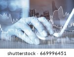 e business or forex concept ... | Shutterstock . vector #669996451