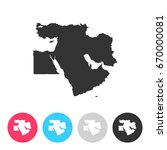 middle east map isolated on... | Shutterstock .eps vector #670000081