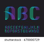 color vibrant gradient line...   Shutterstock .eps vector #670000729