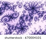 violet swirly fractal texture ... | Shutterstock . vector #670004101