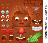 creation set of cartoon poo... | Shutterstock .eps vector #670005547