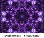 Violet Seamless Fractal Mandal...