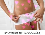 closeup midsection of a young... | Shutterstock . vector #670006165