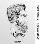 indie men. hipster hair style... | Shutterstock .eps vector #670021351