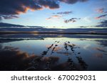 stunning sunset and clouds... | Shutterstock . vector #670029031