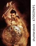 ancient warrior or gladiator... | Shutterstock . vector #670029691
