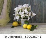 Rustic Still Life With White ...