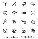 sport vector icons for web and... | Shutterstock .eps vector #670038055