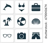 sun icons set. collection of...   Shutterstock .eps vector #670043674