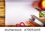back to school  supplies and... | Shutterstock . vector #670051645