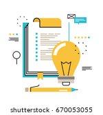 questionnaire clipboard ... | Shutterstock .eps vector #670053055