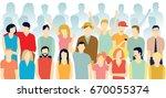 modern european society ... | Shutterstock .eps vector #670055374