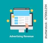 flat vector of advertising... | Shutterstock .eps vector #670061254