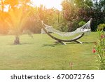 lazy time with hammock in the... | Shutterstock . vector #670072765