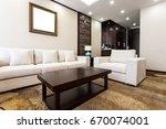 comfortable living room | Shutterstock . vector #670074001