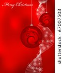 red greeting card for christmas   Shutterstock . vector #67007503