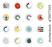 download progress icons set in... | Shutterstock . vector #670077325