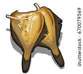 cartoon dried river fish... | Shutterstock .eps vector #670079569