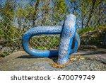 graffiti on metal fixture at... | Shutterstock . vector #670079749