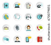 call center symbols set icons... | Shutterstock . vector #670079851