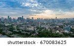 sunrise in chengdu  china | Shutterstock . vector #670083625
