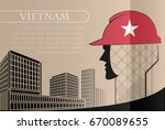 building logo made from the... | Shutterstock .eps vector #670089655
