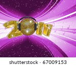 sparkling new year 2011 with... | Shutterstock .eps vector #67009153