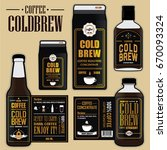 collection of coffee cold brew... | Shutterstock .eps vector #670093324