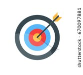 target with arrow. goal achieve ... | Shutterstock .eps vector #670097881