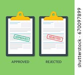 set of documents on the... | Shutterstock .eps vector #670097899
