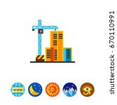 building company icon | Shutterstock .eps vector #670110991