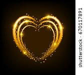 shiny heart shaped frame on... | Shutterstock .eps vector #670117891