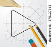 vector blueprint play button...