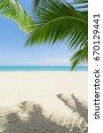 sunny tropical beach  | Shutterstock . vector #670129441