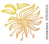 flower. vector illustration. | Shutterstock .eps vector #670132111