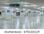 a car parking sign  floor level ...   Shutterstock . vector #670133119